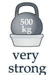 выдерживает 500 кг равномерной нагрузки